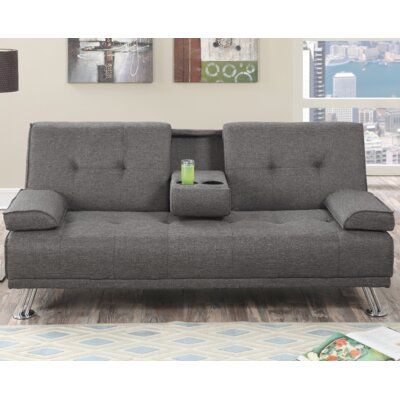 Joan Convertible Sofa Upholstery: Gray