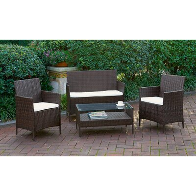 Anna 4 Piece Deep Seating Group with Cushion