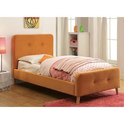 Betty Upholstered Platform Bed Size: Twin, Color: Orange