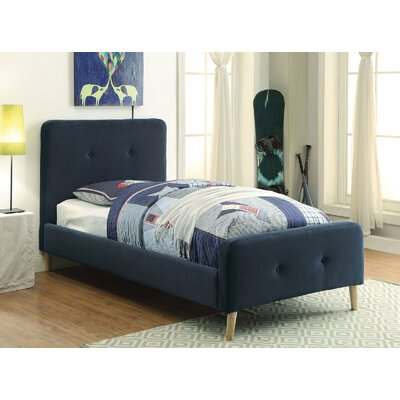 Betty Upholstered Platform Bed Size: Twin, Color: Navy Blue