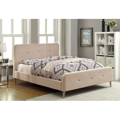 Betty Upholstered Platform Bed Size: Twin, Color: Beige