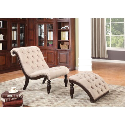 Rio Lounge Chair and Ottoman Finish: Beige