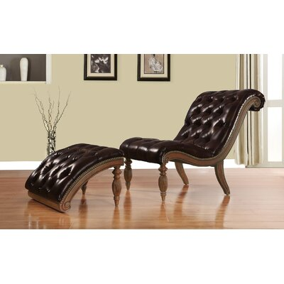 Rio Lounge Chair and Ottoman Finish: Dark Brown