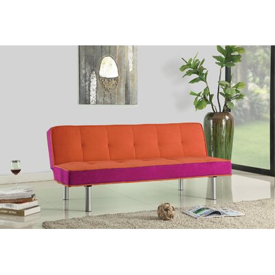 Samantha Adjustable Sleeper Sofa Upholstery: Orange