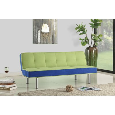 Samantha Convertible Sofa Upholstery: Green