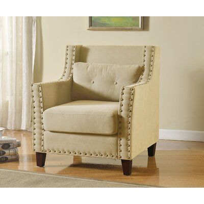 Gabriel Arm Chair Color: Beige