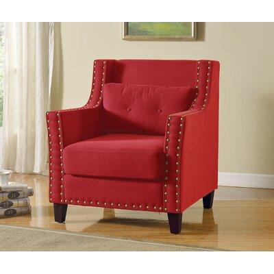 Gabriel Armchair Color: Red