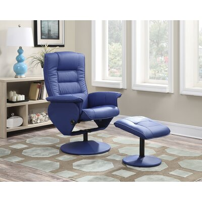 Able Recliner and Ottoman Color: Blue