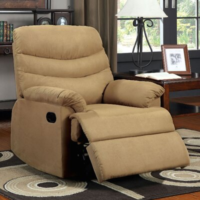 Lora Manual Rocker Recliner Color: Tan