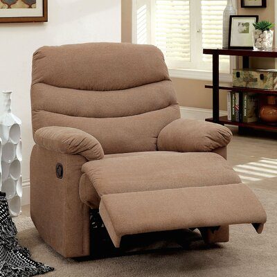 Lora Upholstered Recliner Color: Mocha