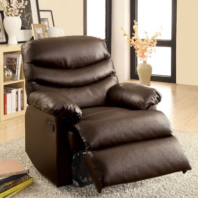 Baley Upholstered Manual Rocker Recliner Color: Brown