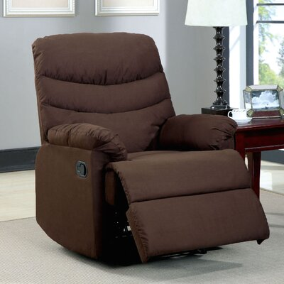 Lora Upholstered Recliner Color: Brown