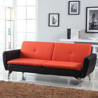 Samantha Adjustable Sleeper Sofa Upholstery: Red