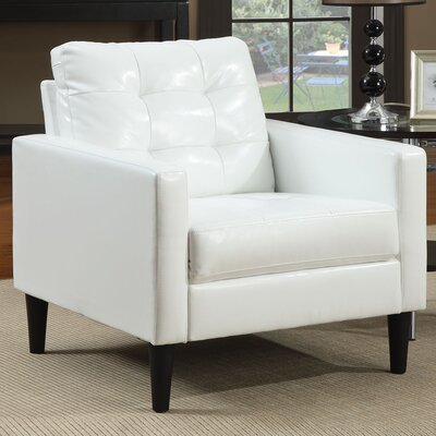 Nicola Club Chair Upholstery: White