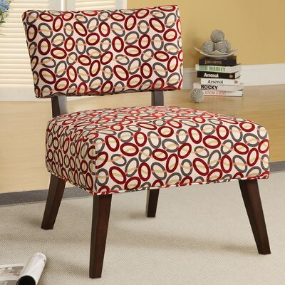 Fabric Slipper Chair Upholstery: Red