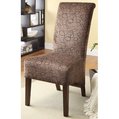 Fabric Parsons Chair Color: Light Brown