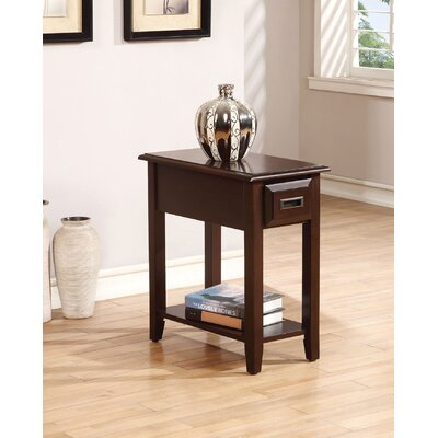 Mia End Table Color: Dark Cherry