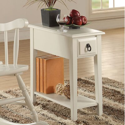 Mia End Table Color: White