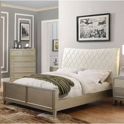 Noannet Upholstered Panel Bed Size: King