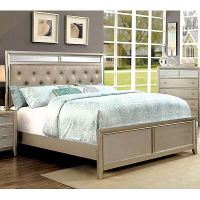 Ashmont Upholstered Panel Bed Size: King