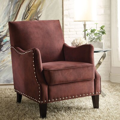 Sherry Armchair Color: Burgundy