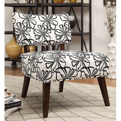 Flamingo Slipper Chair Upholstery: White