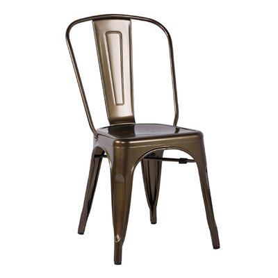 Minimalist Side Chair Finish: Bronze