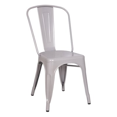 Minimalist Side Chair Finish: Silver