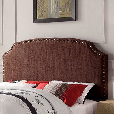 Ally Upholstered Headboard Upholstery: Brown, Size: King