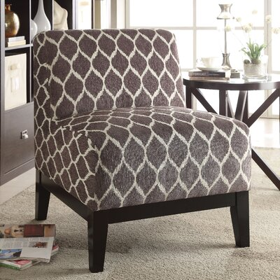 Cecelia Slipper Chair Upholstery: Brown