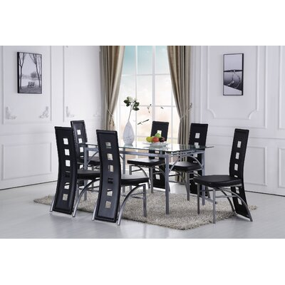 Catherine Dining Set Color: Black