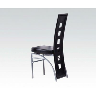 Catherine Side Chair Upholstery: Black