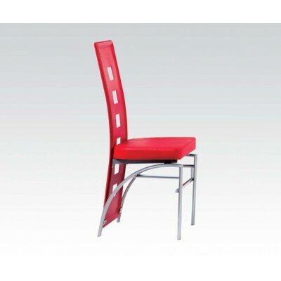 Catherine Side Chair Upholstery: Red