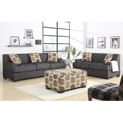 A&J Homes Studio 74WF4A6JDGRAY-SET Jesse Sofa and Loveseat Set