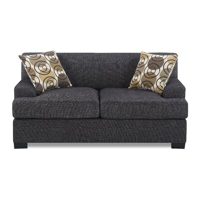 Jesse Loveseat Upholstery: Dark Gray
