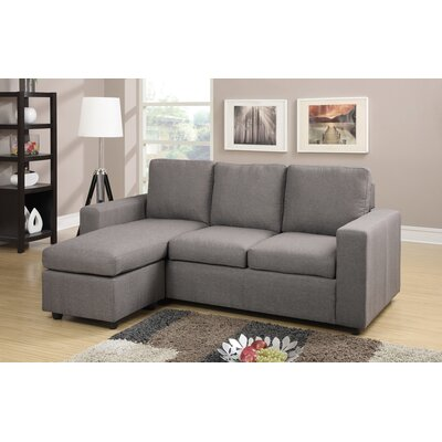 A&J Homes Studio F7WF4A9J1GRAY Rossa Reversible Chaise Sectional