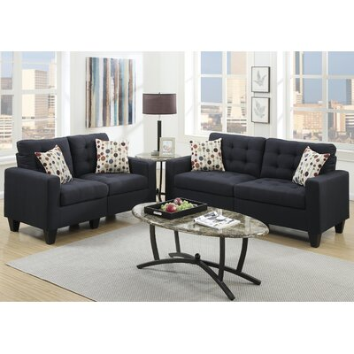 Callanan 2 Piece Living Room Set Color: Black