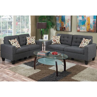Callanan Sofa and Loveseat Set Color: Dark Gray