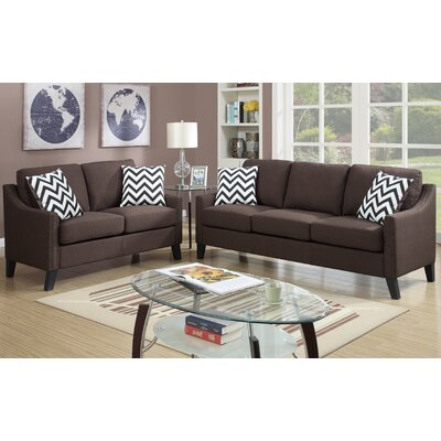 A&J Homes Studio 6WF9A07CHOC Sofa and Loveseat Set