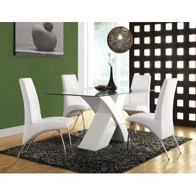 Angelica Dining Table Color: White