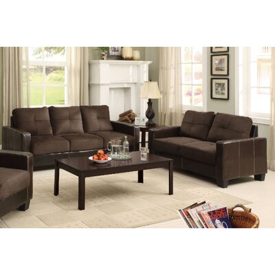 Parma 2 Piece Living Room Set Color: Chocolate