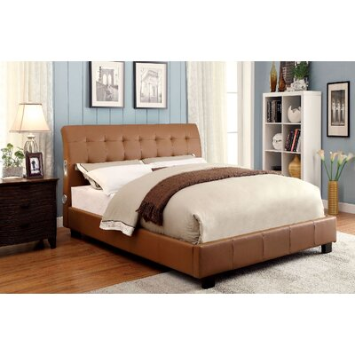 Francesca Upholstered Platform Bed Size: Twin, Finish: Camel