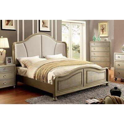 Adams Upholstered Platform Bed Size: King