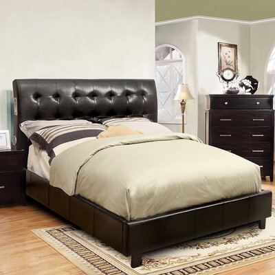 Francesca Upholstered Platform Bed Size: King, Color: Espresso