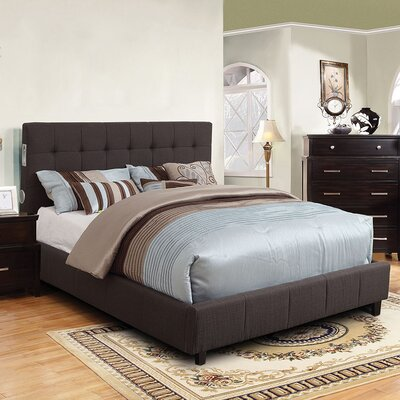 Denise Upholstered Platform Bed Size: California King, Color: Gray