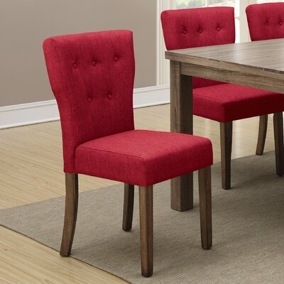 Daniella Parsons Chair Finish: Dark Red