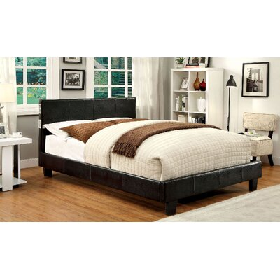 Dolores Upholstered Platform Bed Size: Twin, Color: Espresso