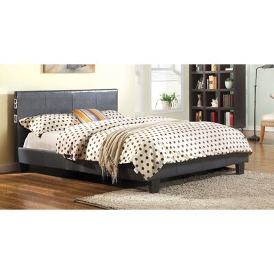 Dolores Upholstered Platform Bed Size: California King, Upholstery: Gray