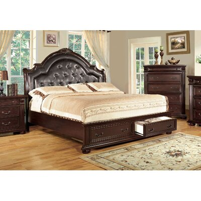 Ellis Upholstered Platform Bed Size: California King