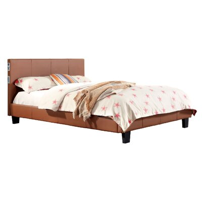 Dolores Upholstered Platform Bed Size: Queen, Upholstery: Camel